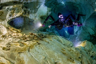 The Pit cave and animal bone by Kim Davisson